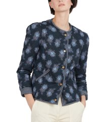 barbour pippa cotton printed quilted jacket