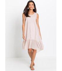 linnen jurk met volant