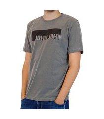 camiseta t-shirt masculina john john black tag cinza