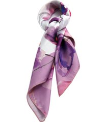 lenço smm acessorios floral lilás