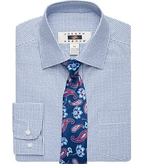 joseph abboud boys blue box print dress shirt & tie set