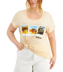 mighty fine trendy plus size graphic print t-shirt