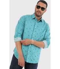 camisa azul aguamarina-azul nautica