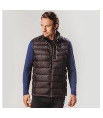 colete masculino de pluma de pato ultralight alpine - preto