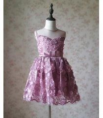 ball gown knee-length flower girl dress -satin/tulle sleeveless scoop neck 4-16