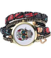 vintage orologio digitale a bracciale a multistrati con motivo di craino colorato