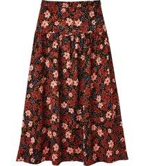 lång, blommig kjol