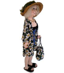 """olive at the beach"" pdf digital cloth doll e-pattern download by jill maas"