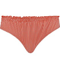 côte d'azur 5 cm bikini slip | red and white - l