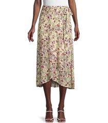 velvet women's isadora floral midi skirt - magnolia multi - size xl