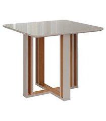 mesa de jantar quadrada flora nature e off white 94 cm