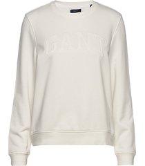 arch logo c-neck sweat sweat-shirt tröja vit gant