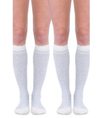 women's belly bandit 2-pack compression socks, size 1 - grey