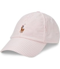 polo ralph lauren men's striped oxford cap