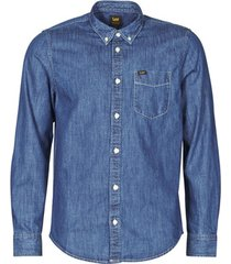 overhemd lange mouw lee lee button down dipped blue