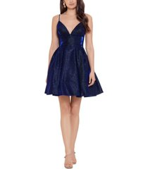 betsy & adam galaxy fit & flare party dress