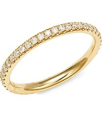eternity lady 14k yellow gold & diamond ring