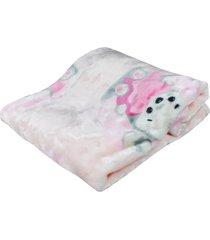 cobertor de bebê antialérgico etruria rosa little bear rosa - kanui