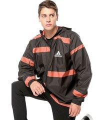 chaqueta negro-naranja adidas performance w.n.d.