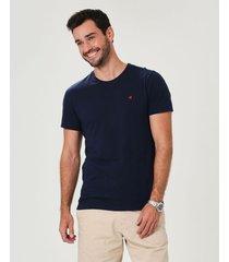 camiseta slim botonê malwee azul - gg