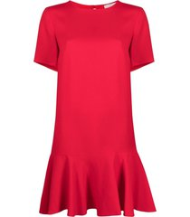 l'autre chose drop-waist dress - red