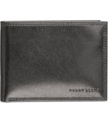 perry ellis portfolio men's leather rfid wallet