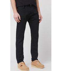 edwin men's slim tapered kaihara jeans - black rinsed - w36/l32