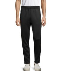 cult of individuality men's striped track pants - black - size xl