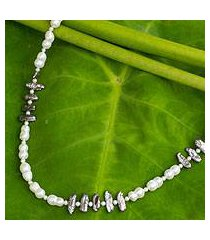 cultured pearl strand necklace, 'sweet jasmine' (thailand)