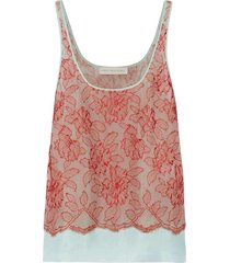 bree floral motif lace over tanktop