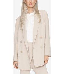 b new york double-breasted oversized coat