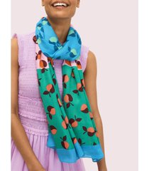 kate spade new york colorblock apples oblong scarf