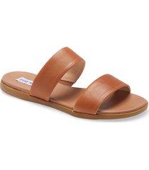 women's steve madden dual woven slide sandal, size 11 m - brown
