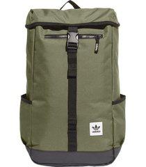 mochila verde adidas originals essentials top loader