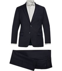 michael kors modern fit suit navy stripe