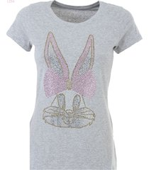 k-design t-shirt konijn l256 heather grey - xxl
