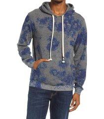 sol angeles men's cobalt marble fleece hoodie, size large in heather at nordstrom