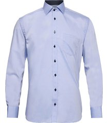 cotton twill with dotted contrasts overhemd business blauw bosweel shirts est. 1937