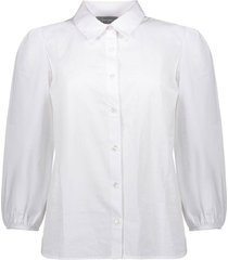 blouse poplin wit