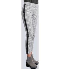 broek alba moda grijs::offwhite::antraciet