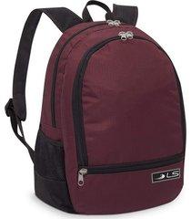 mochila ls bolsas mo4112 vermelho
