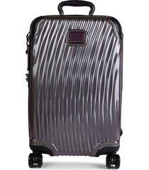 tumi international carry-on suitcase - grey
