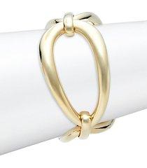 18k yellow gold link bangle bracelet