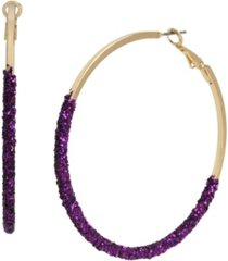 jessica simpson glitter dip hoop earrings