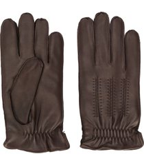 orciani stitched gloves - brown