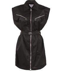 bottega veneta sleeveless dress with zip