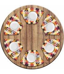 jogo americano para mesa redonda wevans xãcaras coloridas kit com 6 pã§s love decor - multicolorido - dafiti