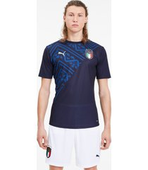 italia away stadium shirt voor heren, blauw, maat m | puma