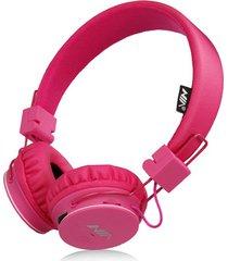 audífonos gamer, nia x2 gaming estéreo hd manos libres original auriculares bluetooth libre plegables deportivos con micrófono de apoyo tf tarjeta de radio fm (color de rosa)