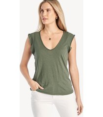 la made women's finn top in color: palm frond size xs from sole society